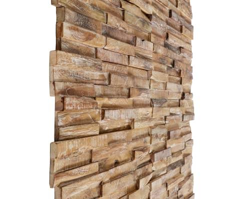 vidaXL 3D sienos apdailos plokštės, 20vnt., 2m², tikmedžio med. mas.[4/6]