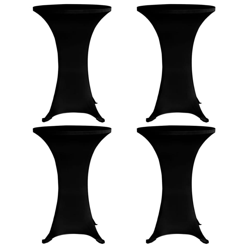 vidaXL Husă de masă cu picior, 4 buc., negru, Ø80 cm, elastic vidaxl.ro