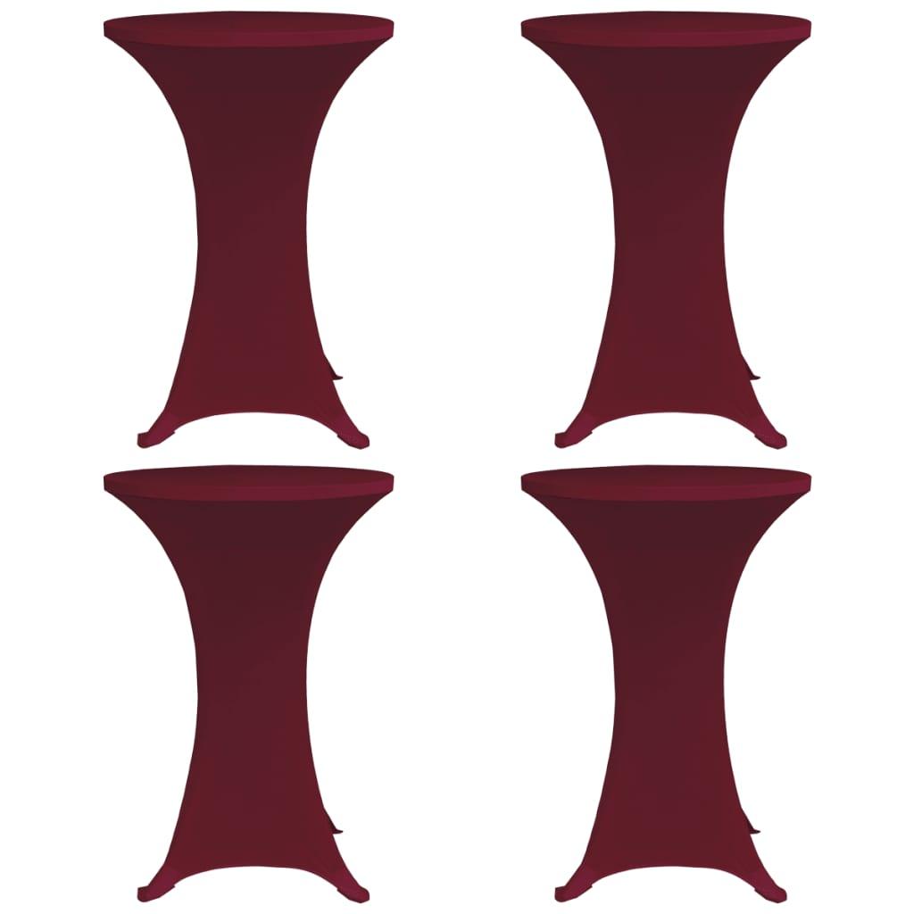 vidaXL Husă elastică de masă cu picior, 4 buc., grena, Ø80 cm vidaxl.ro