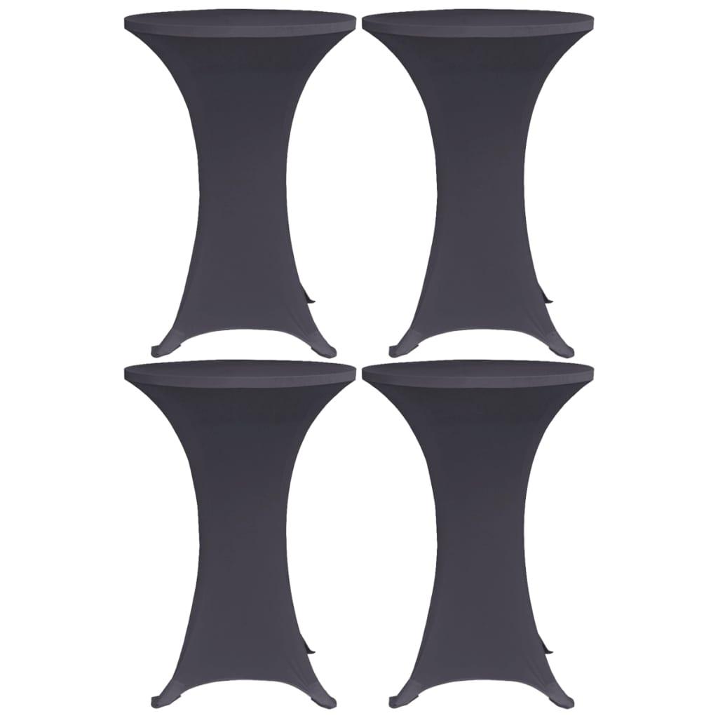 vidaXL Husă de masă elastică, 4 buc., antracit, 60 cm poza 2021 vidaXL