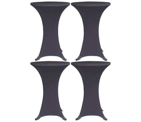 vidaXL Bordsöverdrag 4 st 60 cm stretch antracit
