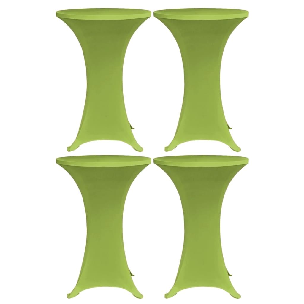 vidaXL Husă elastică pentru masă, 4 buc., verde, 80 cm poza 2021 vidaXL