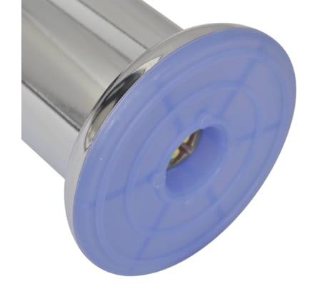 vidaXL Apvalios sofos kojelės, 8 vnt., chromas, 60 mm (2x242157)[4/4]