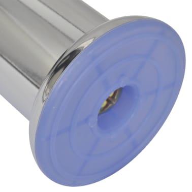vidaXL Bankpoten rond 8 st 60 mm chroomkleurig[4/4]