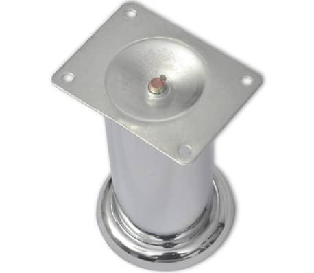 vidaXL Runde Sofabeine 8 Stk. Chrom 120 mm[3/4]