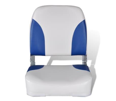 vidaXL Valties sėdynės, 2 vnt., baltos ir mėlynos sp., 41x36x48cm[3/5]