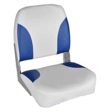 vidaXL Valties sėdynės, 2 vnt., baltos ir mėlynos sp., 41x36x48cm[2/5]