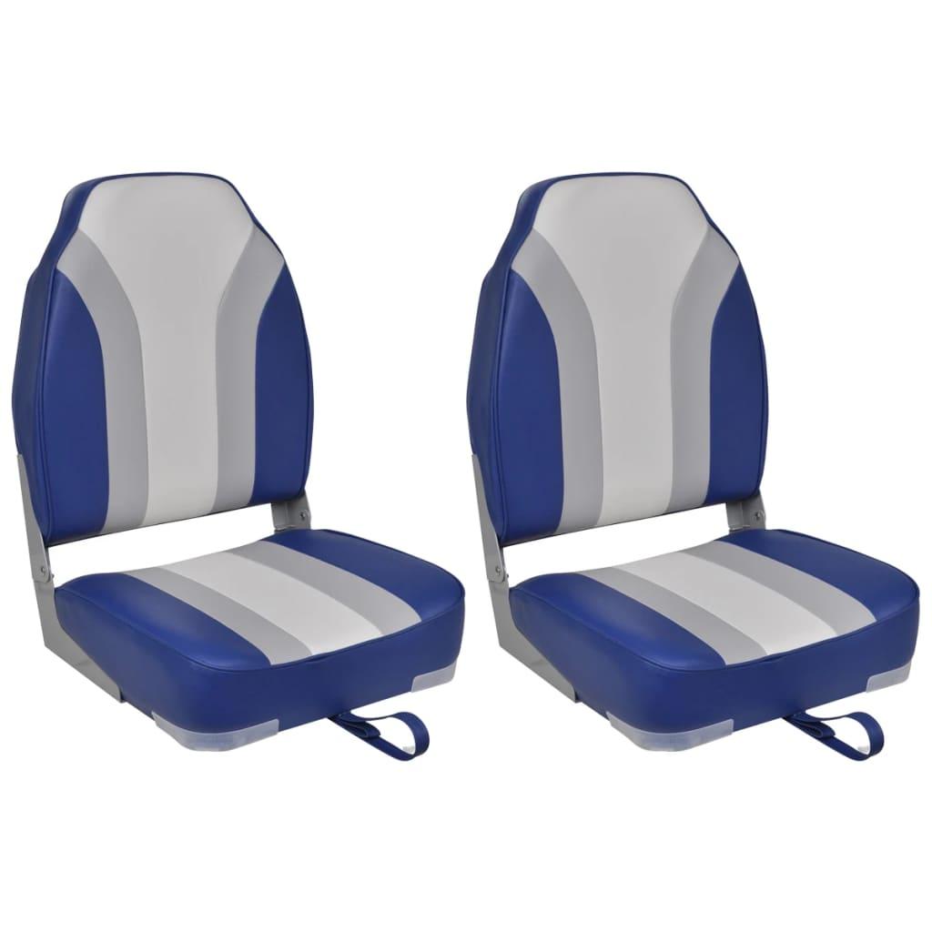 vidaXL Skládací sedadla do člunu 2 ks s vysokými opěradly
