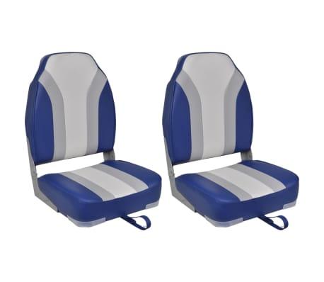 vidaXL Cadeiras para barco dobráveis 2 pcs com encosto alto