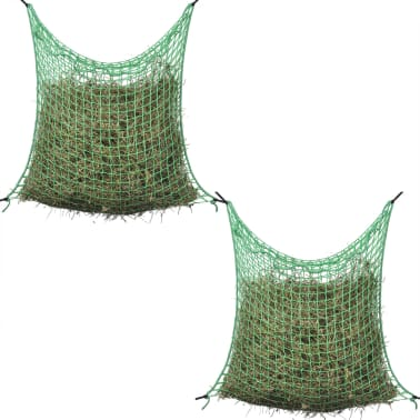 vidaXL Δίχτυα Σανού Τετράγωνο Πλέγμα 4 τεμ. 0,9 x 1 μ. Πολυπροπυλένιο[2/4]