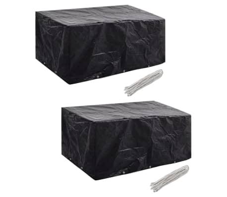vidaXL Conjunto capas p/ mobiliário jardim 2 pcs 10 ilhós 240x140 cm