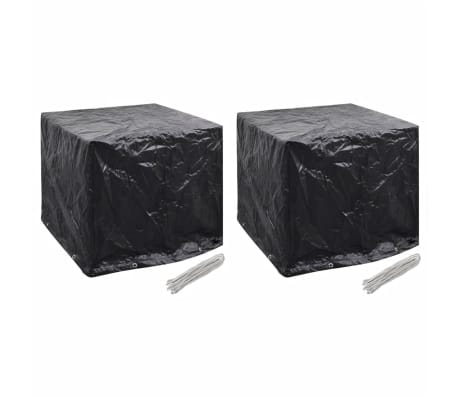 vidaXL Sodo vandens bakelio uždangalai, 2vnt., 8 kilpų, 116x100x120cm