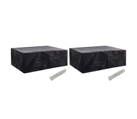 vidaXL Garden Furniture Covers 2 pcs 8 Eyelets 242x162x100 cm