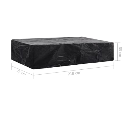 vidaXL Sodo saulės gulto uždangalai, 2vnt., 218x77x55cm, 8 kilputės[8/8]