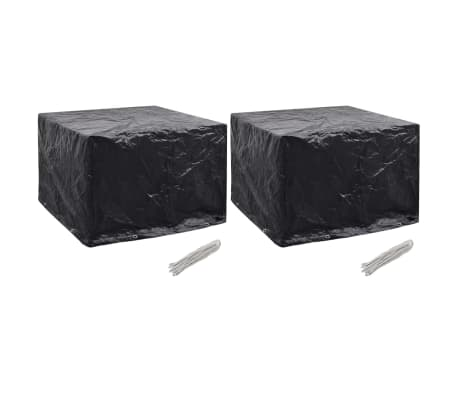 vidaXL Sodo baldų uždangalai, 2vnt., 122x112x98 cm, 8 kilpos (2x45125)