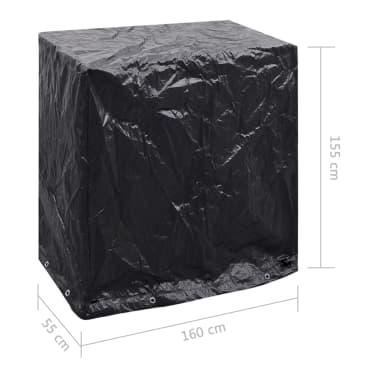 vidaXL Sodo baldų/teniso stalo uždangalai, 2vnt., 160x55x182cm, 8 kil.[8/8]
