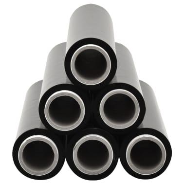 vidaXL Paletten-Folienrollen 6 Stk. Schwarz 17 µm 840 m[2/3]