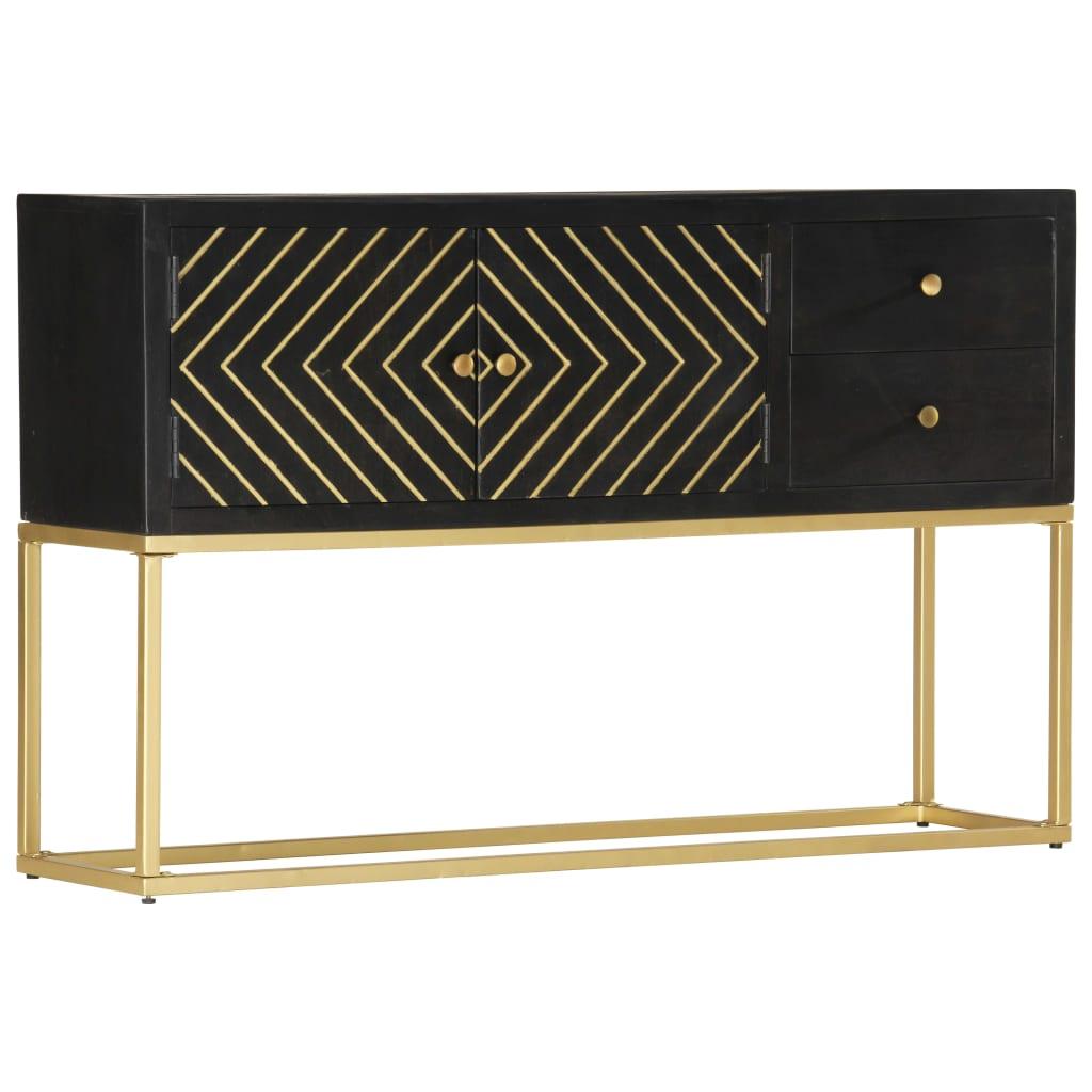 Das Sideboard mit schwarzem und goldenem Finish ist eine zeitlose Ergänzung für Ihre Inneneinrichtung.
