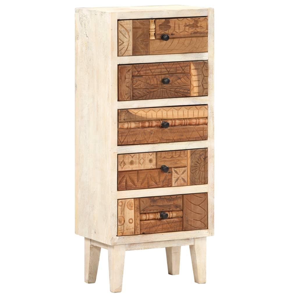 vidaXL Dulap cu sertare, 45 x 30 x 105 cm, lemn masiv reciclat vidaxl.ro