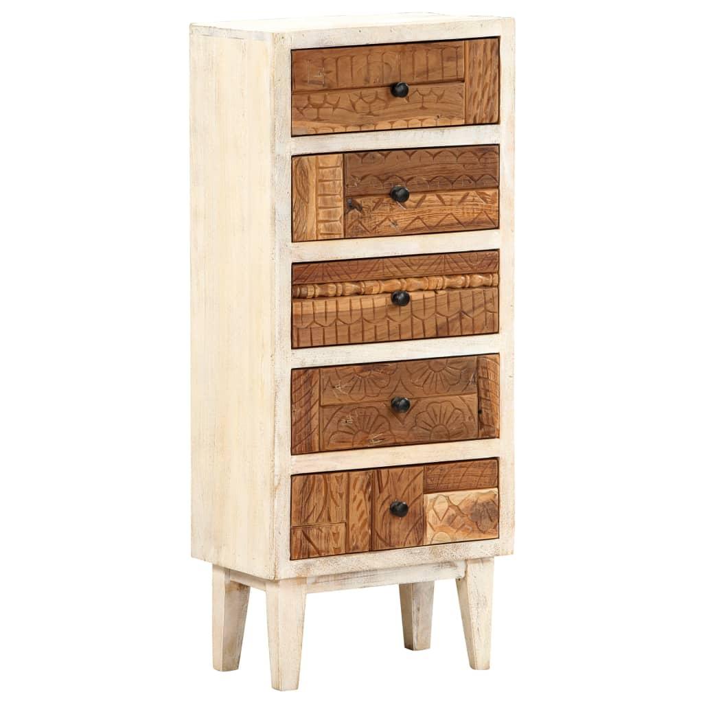 vidaXL Ladekast 45x30x105 cm massief gerecycled hout