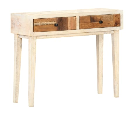 vidaXL Konzolový stolek 90 x 30 x 75 cm masivní recyklované dřevo