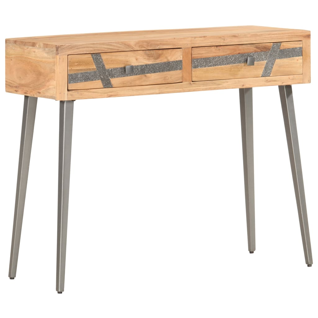 vidaXL Masă consolă, 90 x 30 x 75 cm, lemn masiv de acacia imagine vidaxl.ro