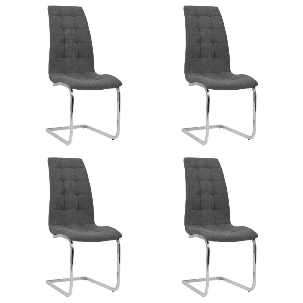 vidaXL Καρέκλες Τραπεζαρίας 4 τεμ. Σκ. Γκρι 42,5x61x104,5 εκ. Ύφασμα