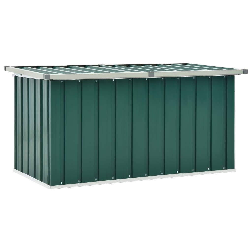vidaXL Ladă de depozitare pentru grădină, verde, 129 x 67 x 65 cm poza 2021 vidaXL