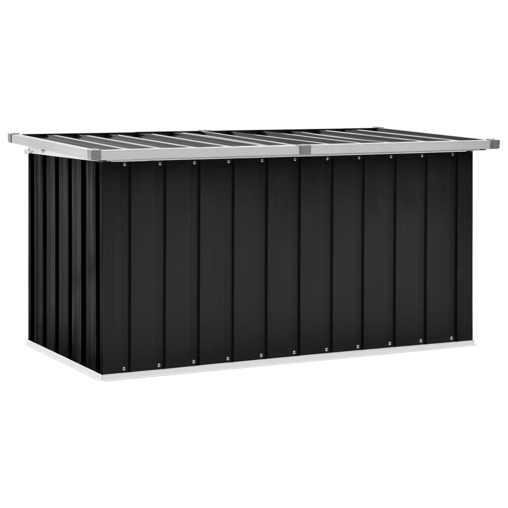 vidaXL Ladă de depozitare pentru grădină, antracit, 129 x 67 x 65 cm poza 2021 vidaXL