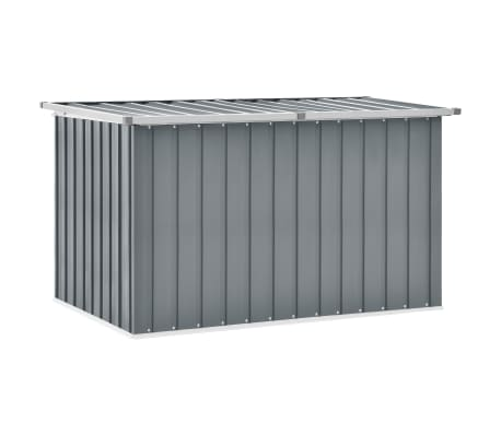 vidaXL Garden Storage Box Grey 149x99x93 cm