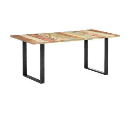 vidaXL Masă de bucătărie, 180 x 90 x 76 cm, lemn masiv reciclat