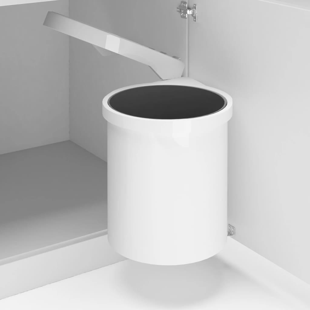 vidaXL Coș de gunoi încorporat de bucătărie, 12 L, plastic imagine vidaxl.ro