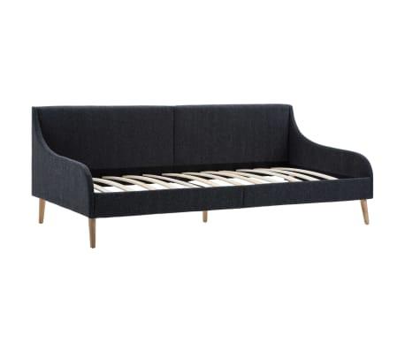 vidaXL Dagbedframe met traagschuim matras stof donkergrijs[4/16]