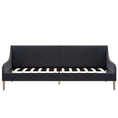 vidaXL Dagbedframe met traagschuim matras stof donkergrijs[3/16]