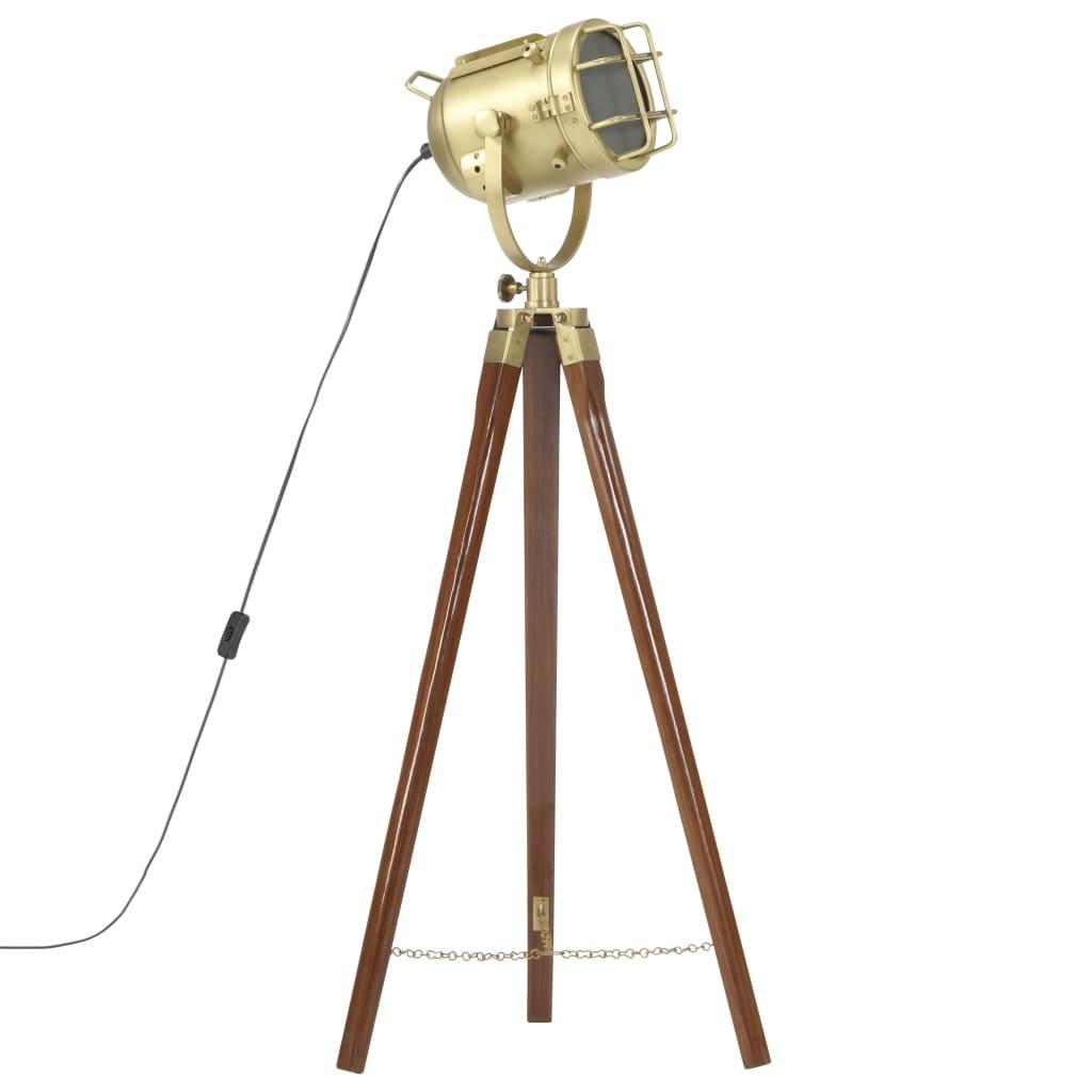 vidaXL Lampă de podea cu trepied, 97 cm, lemn masiv de mango poza 2021 vidaXL