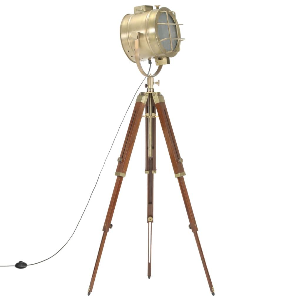vidaXL Lampă de podea cu trepied, 165 cm, lemn masiv de mango poza 2021 vidaXL