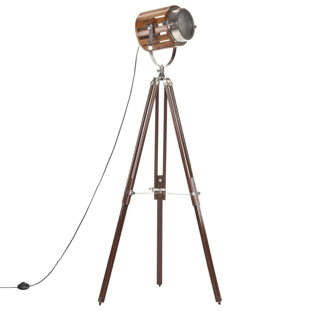 vidaXL Lampă podea cu trepied, 186 cm, lemn masiv de mango vidaxl.ro