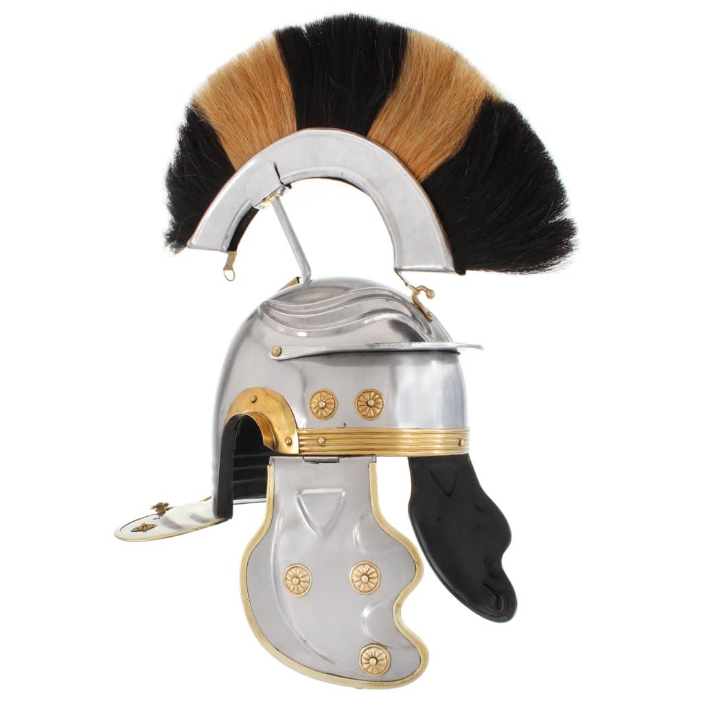 Římská válečnická přilba pro LARPy replika stříbro ocel