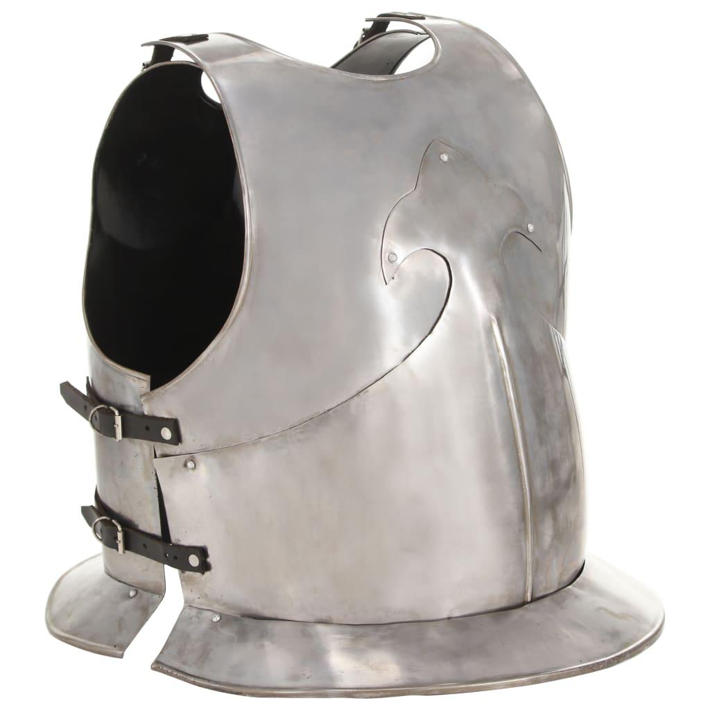 Středověký rytířský kyrys pro LARPy replika stříbro ocel