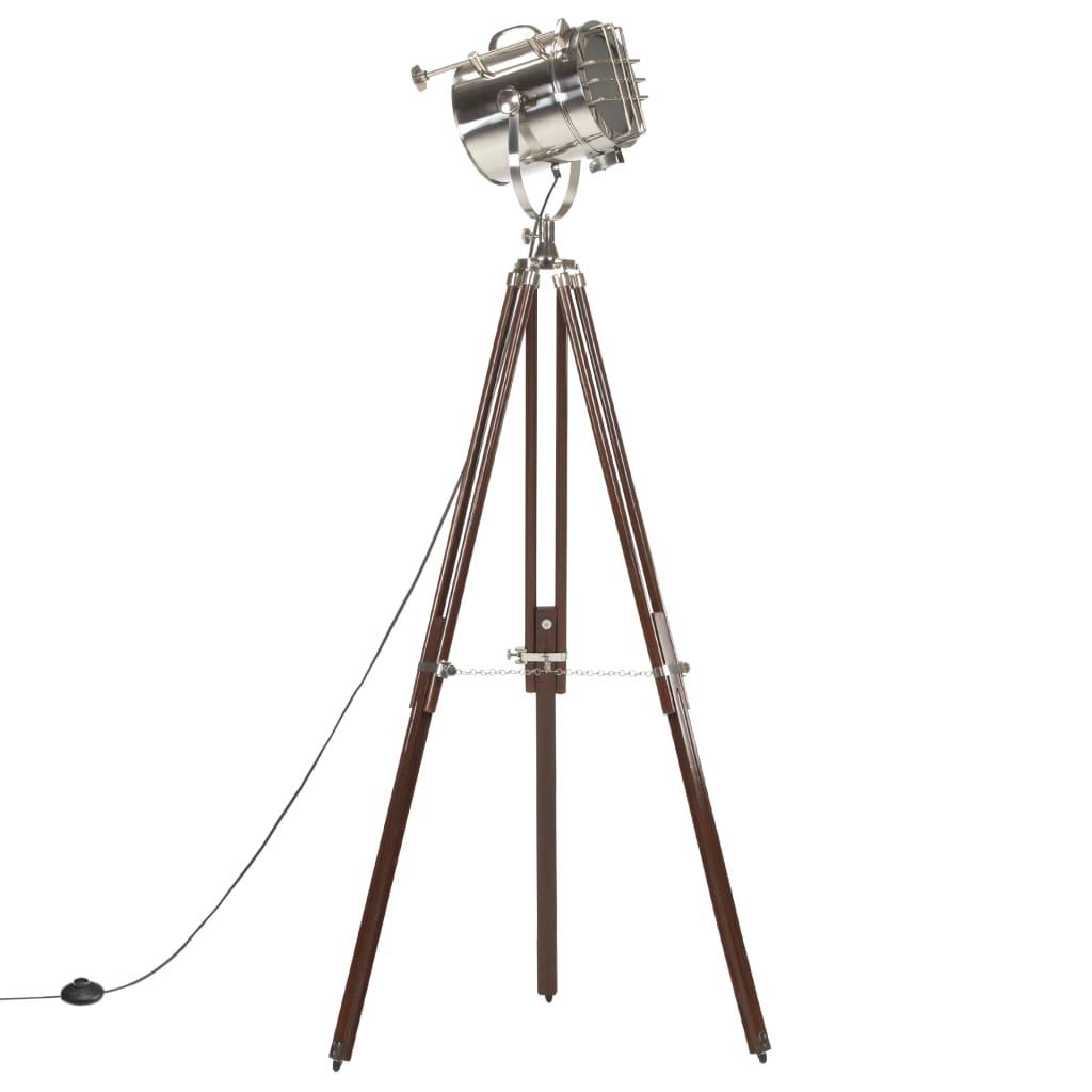 vidaXL Lampă de podea cu trepied, 180 cm, lemn masiv de mango poza vidaxl.ro