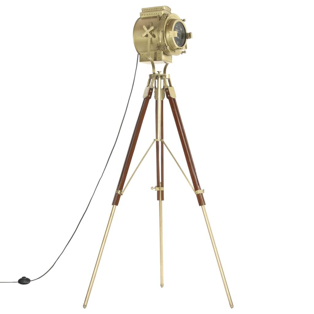 vidaXL Lampă de podea cu trepied, 193 cm, lemn masiv de mango poza 2021 vidaXL