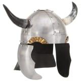 vidaXL Casque de chevalier médiéval allemand pour GN Argenté Acier