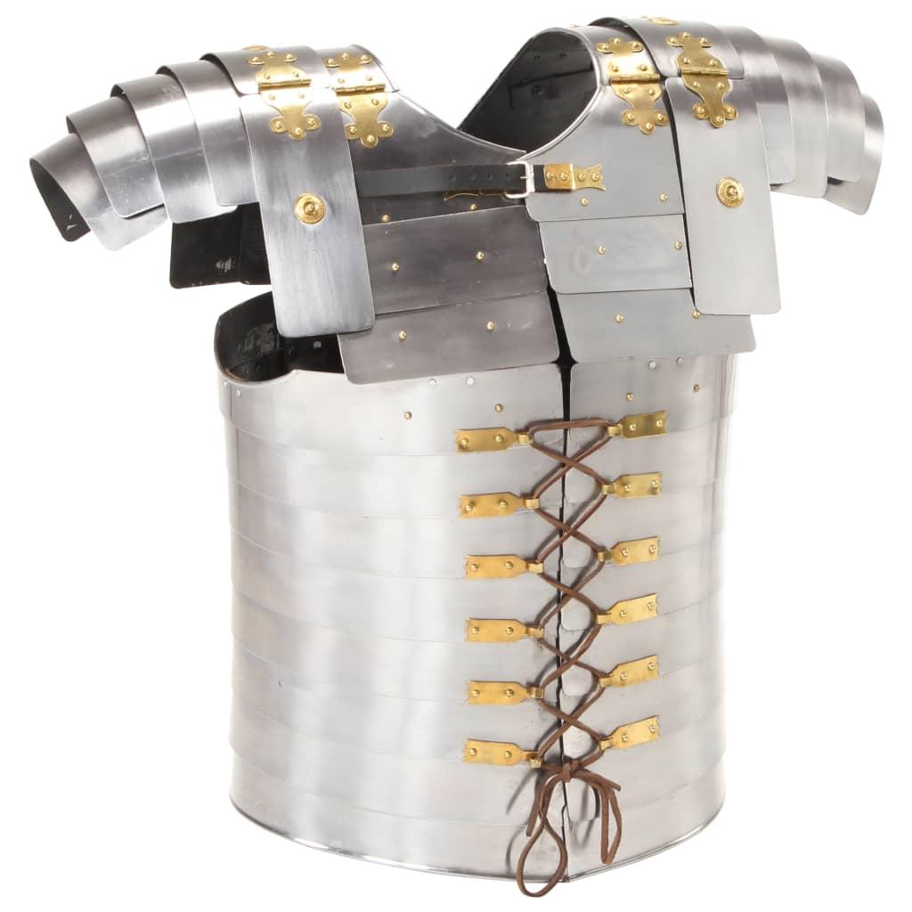 Římský lamelový pancíř pro LARPy replika stříbrný ocel