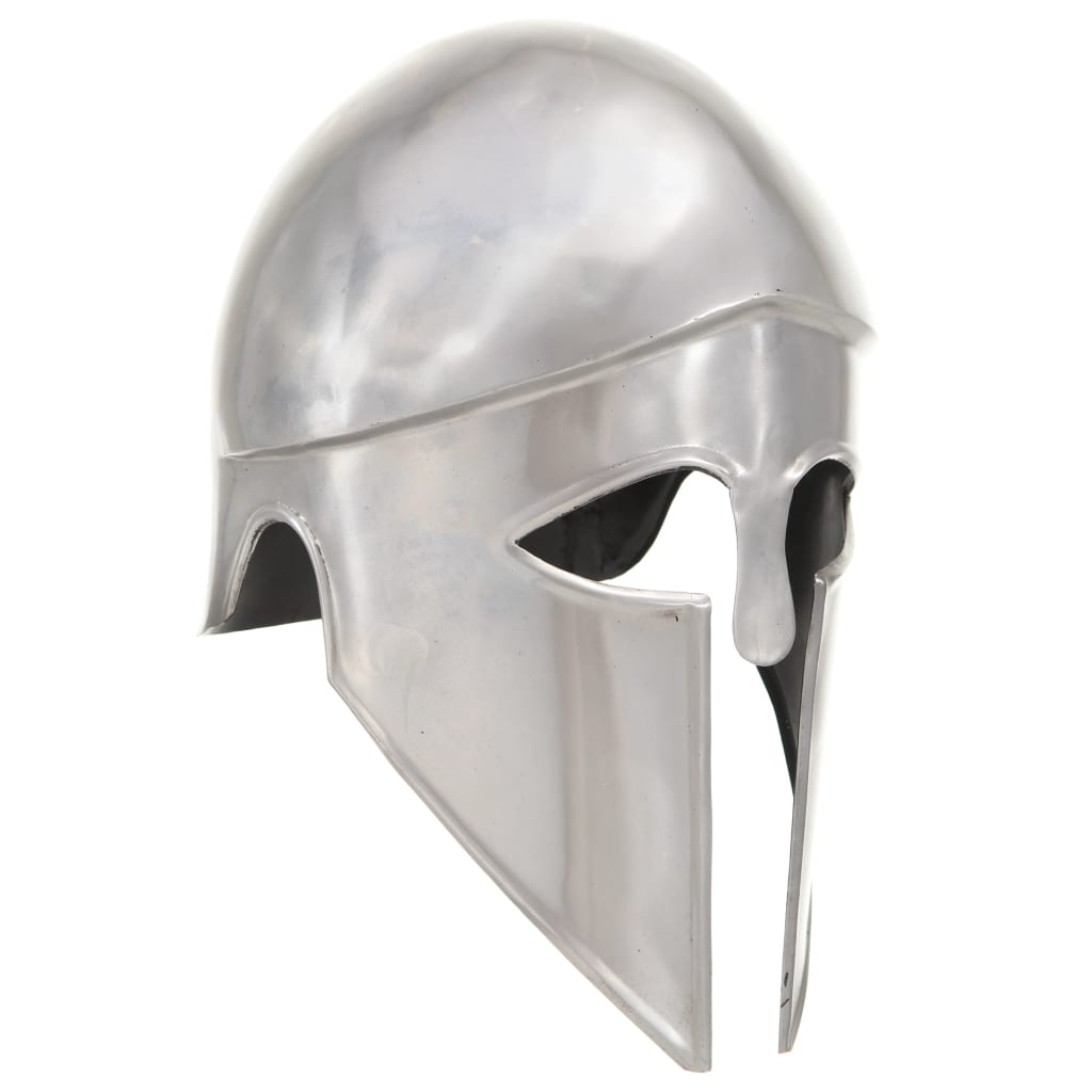 vidaXL Coif războinic grec aspect antichizat joc de rol argintiu oțel poza 2021 vidaXL