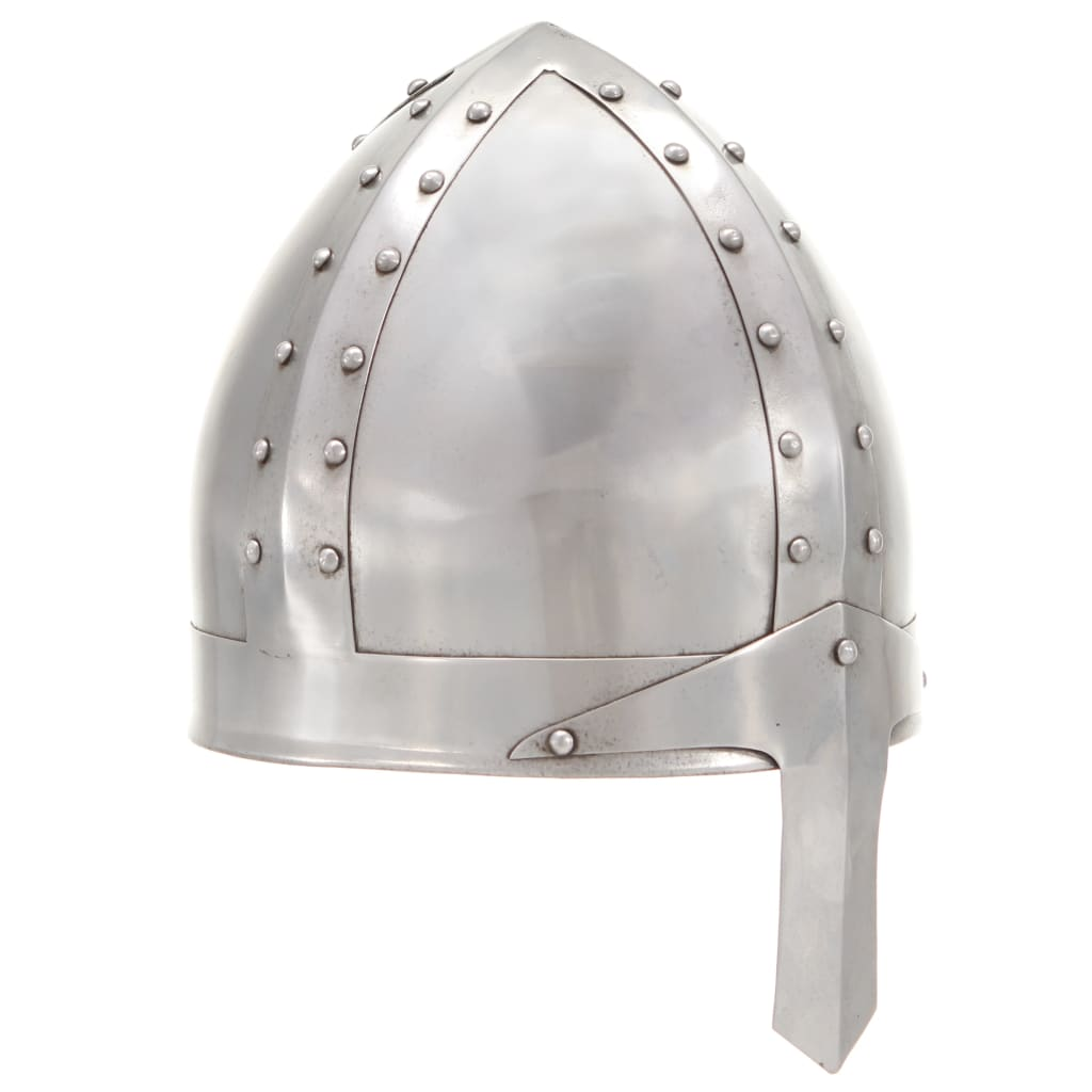 vidaXL Coif cavaler medieval antic, jocuri de rol, argintiu, oțel poza 2021 vidaXL