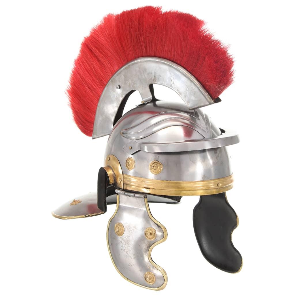 Rooma sõduri kiivri jäljend LARP, hõbedane, teras