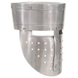 vidaXL Casque d'armure de chevalier pour LARP Argenté 24x24x29cm Acier