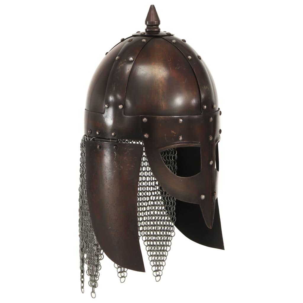 vidaXL Coif de viking, aspect antic, jocuri pe roluri, arămiu, oțel poza 2021 vidaXL