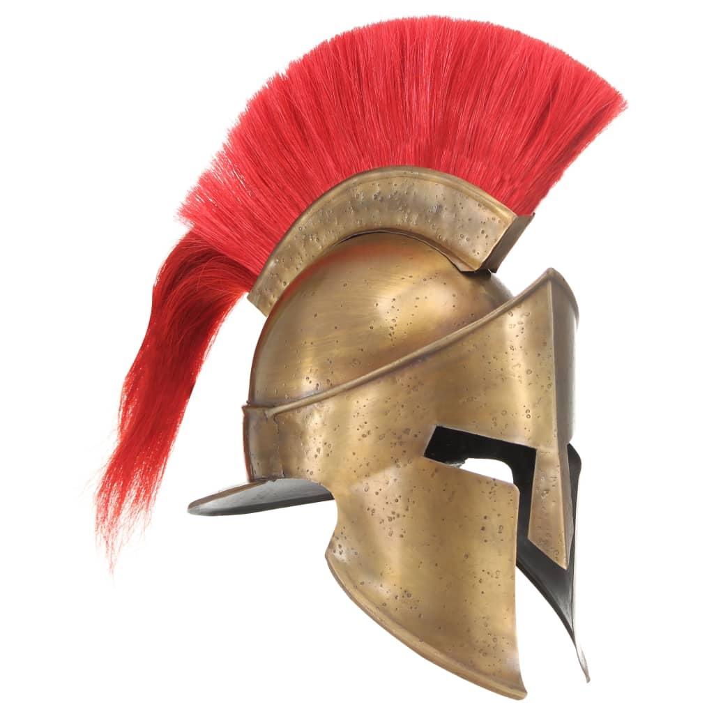 vidaXL Coif războinic grec aspect antic, jocuri pe roluri, alamă, oțel poza 2021 vidaXL