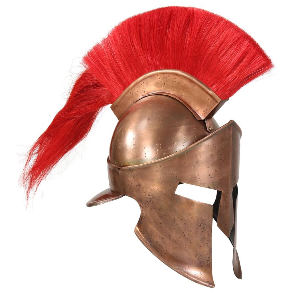 vidaXL Coif războinic grec, antichizat, joc de rol, arămiu, oțel poza 2021 vidaXL